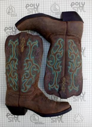 Ковбойские сапоги justin boots размер 8 в/26,5 см