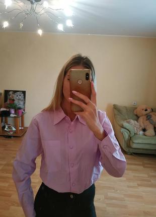 Рубашка нежно фиолетового цвета