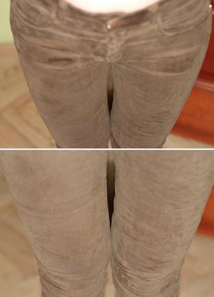 Mango zara h&m супер узкие скини джинсы хаки высокая талия