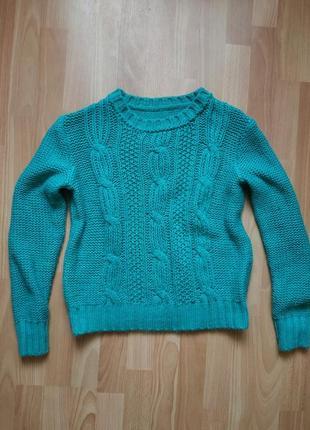 Тёплый вязаный свитер