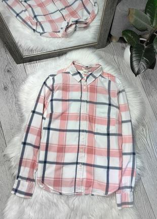 Хлопковая рубашка в клетку от h&m