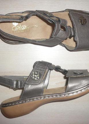Босоножки сандали на липучках кожа rieker 40 р 26 см