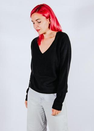 Женский черный свитер оверсайз, чорний жіночий светр оверзайс