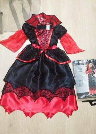 Костюм королева вампиров хэллоуин карнавальное платье вампирши