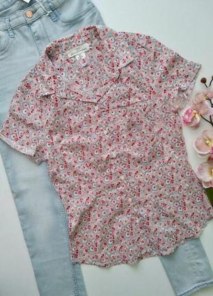 Хлопковая летняя рубашка из воздушной ткани h&m