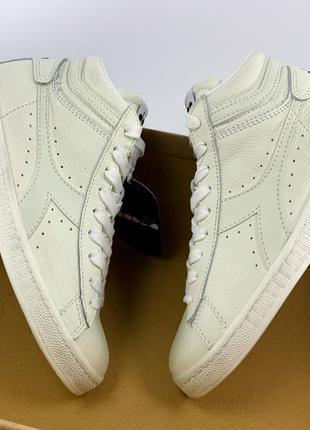 Женские кроссовки diadora 37 размер новые с биркой натуральные кожаные белые высокие