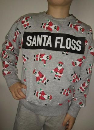 Новогодний свитшот свитер с сантой