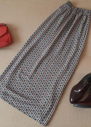 Длинная юбка из натуральной ткани