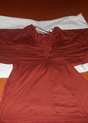 Шоколадная кофта с пелериной gina tricot