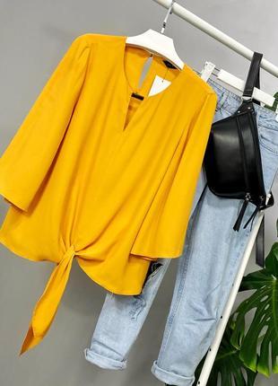 Блузка с завязкой спереди f&f