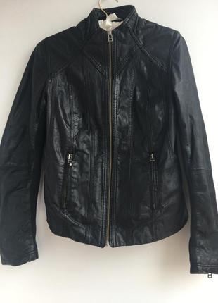 Приталенная кожаная курточка, куртка, натуральная кожа