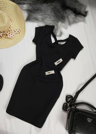 Шикарное черное мини платье