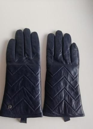 Шкіряні фірмові утеплені жіночі рукавички!!!
