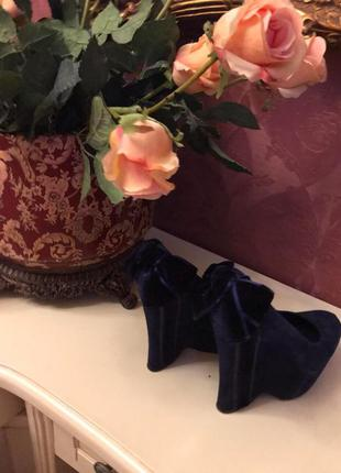 Gianmarco lorenzi оригинал синие туфли с атласным бантом