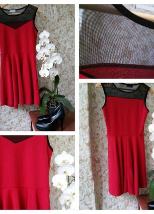 Красное платье с сеточкой от  influence