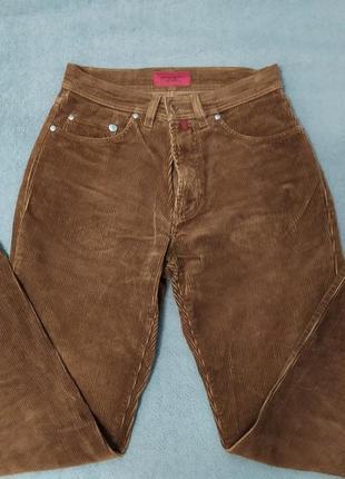 Вельветовые джинсы pierre cardin, женские, бананы, коричневые