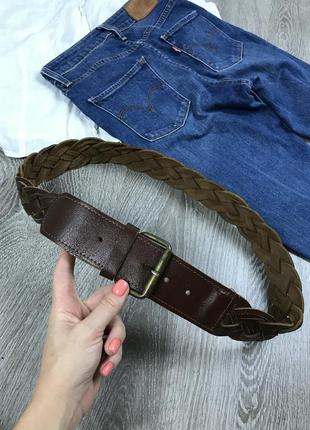Плетёный кожаный пояс