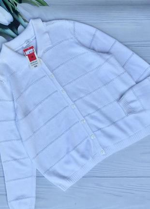 Белоснежный коттоновый кардиган,кофта marks&spencer
