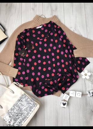 Блуза в горох рубашка сорочка в горошек