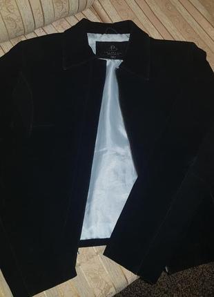 Куртка з натурального замшу.