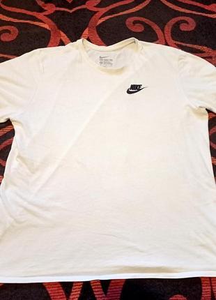 Белая футболка nike оригинал тишка stone island