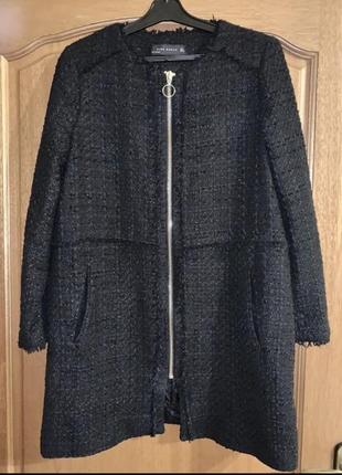 Чёрное пальто zara ❤️в стиле chanel ❤️