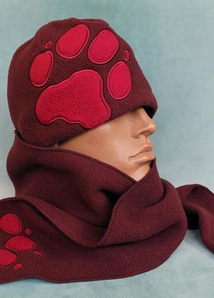 Jack wolfskin® шапка+шарф детские флисовые