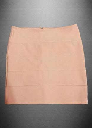 Модная юбочка topshop персикового цвета