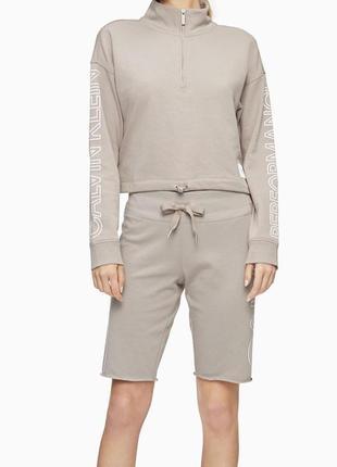 Пуловер худи кофта реглан кельвин кляйн calvin klein оригинал хаки беж
