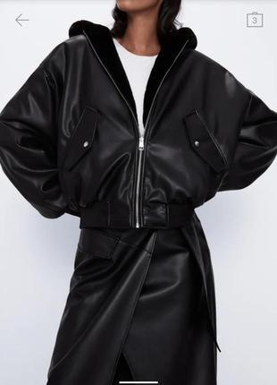 Куртка женская двухсторонняя zara 2020