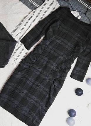 Платье футляр с трендовым принтом клетка phase eight