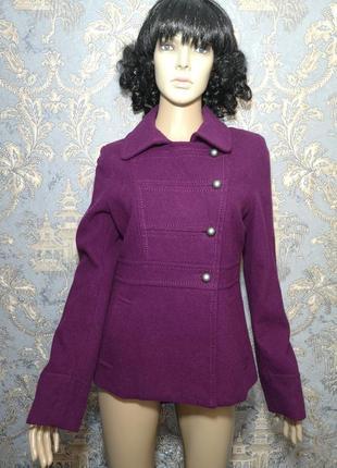 Шерстяной пальто, пиджак, косуха h&m р. 6/36