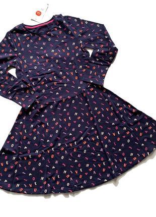 Платье в буквы
