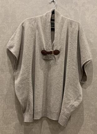Стильное пончо кейп свитер бренда massimo dutti, размер s-l