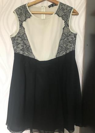 Нарядное платье красивое платье кружево шифон