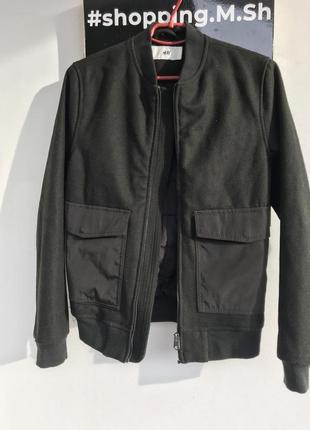 Куртка пиджак утеплённая на синтепоне бомбер