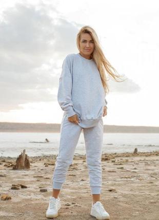Жіночий спортивний костюм оверсайз штани + світшот