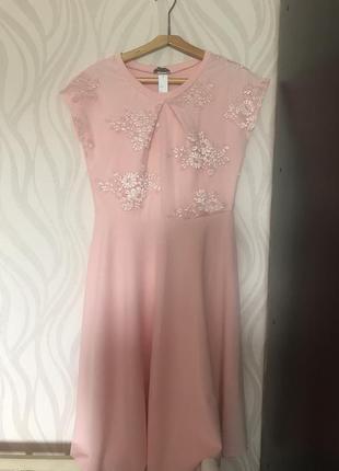 Платье нарядное, пудра 48 50