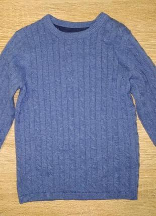 Джемпер пуловер свитер трикотажный голубой 98 см h&m