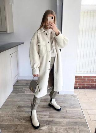 Пальто-рубашка h&m