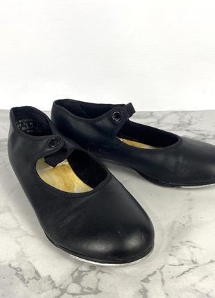 Туфли для степа capezio, 13.5 (19 см), кожзам
