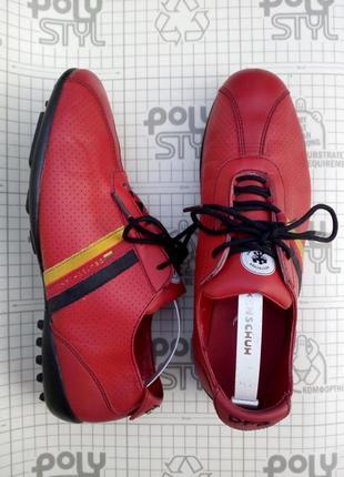Кроссовки футзалки красные кожа dfb 39 размер 24,5 см