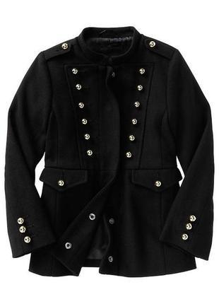 Стильное пальто gap для девочки с золотыми пуговицами!