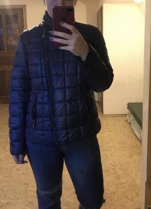 Синяя тёплая куртка