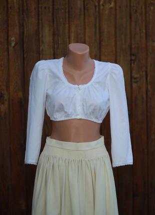 Кроп / блузка (топ) с удлинённым рукавом