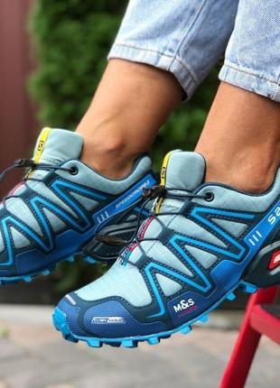 Кроссовки salomon speedcross 3 (синие) р.38,40,41