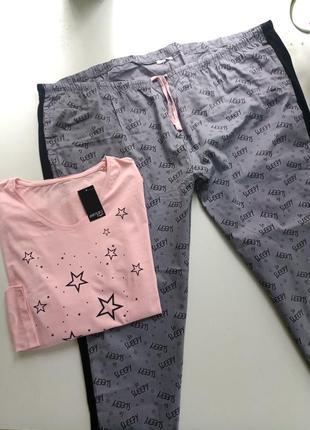 Домашний комплект пижама от немецкого бренда esmara 3хл-4хл