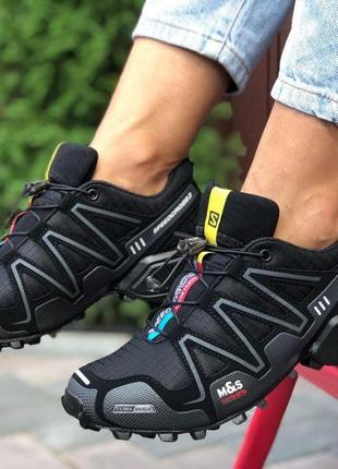 Кроссовки salomon speedcross 3 (черные) р.38,39,40