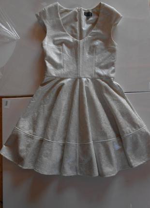 Безумно красивое платье-солнце из фактурной ткани от topshop