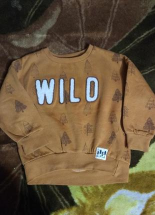 Кофта тёплая с начёсом толстовка худи свитшот свитер reserved